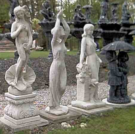 ... Our Wide Selection Of Statuary Pieces. Many Of Them Are Equipped With  Internal Tubing, So They Can Be Used As Spouts For A Fountain Or Pond.