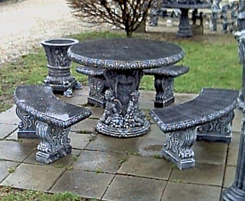 F.N. Debrandere Cement Products. Benches U0026 Tables